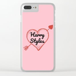 HARRY STYLES LOVE HEART Clear iPhone Case