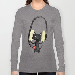 I Love Huge Headphone Long Sleeve T-shirt