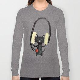 I Love Huge Headphone Langarmshirt