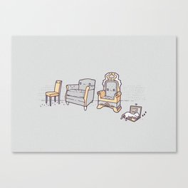 Cat and chairs Canvas Print