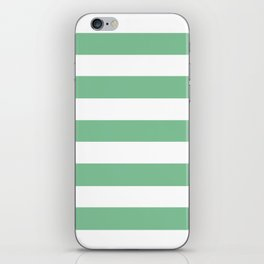 Asda Green (1994) - solid color - white stripes pattern iPhone Skin