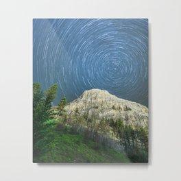 Star Trail Sky Metal Print