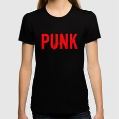 PUNK Black Womens Fitted Tee SMALL
