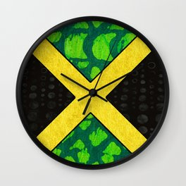Jamaican Pride Flag Wall Clock