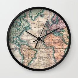 Vintage maps wall clocks society6 vintage world map 1801 wall clock gumiabroncs Gallery