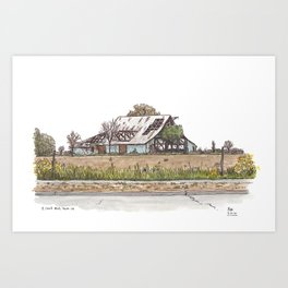 Covell Barn, Davis Art Print