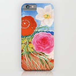 Red Poppies, Calla Lilies, Peonies & NYC Family Portrait by Florine Stettheimer iPhone Case