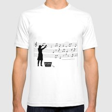 making more music Mens Fitted Tee SMALL White