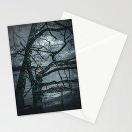 Real Life Ladders Game At Möhne Reservoir Lake dark Stationery Cards