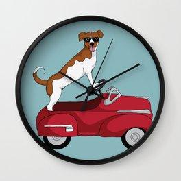 Driving Dog Wall Clock