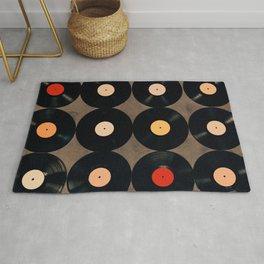 Vinyl Record Collection Rug