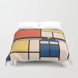 Mondrian Who Duvet Cover