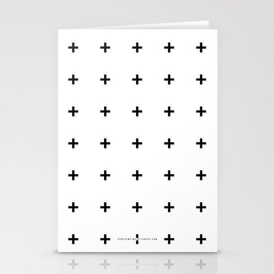 Black Plus on White /// www.pencilmeinstationery.com Stationery Cards