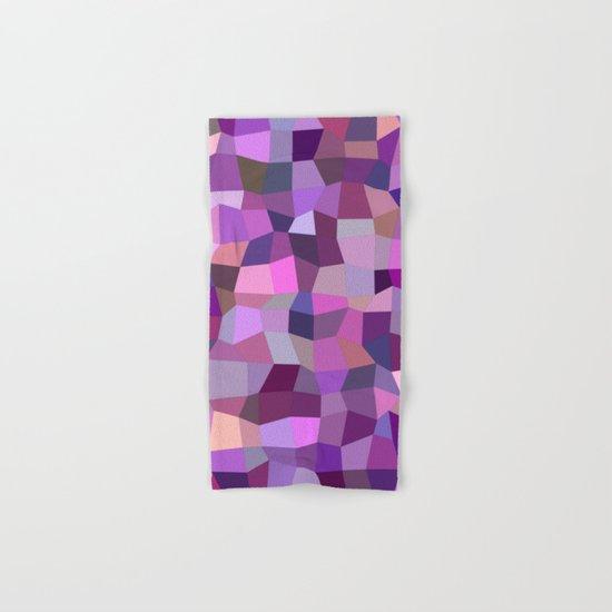 Purplish tile mosaic Hand & Bath Towel