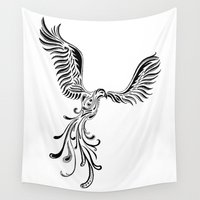 phoenix Wall Tapestries featuring Phoenix by Moran Bazaz