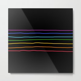 Abstract Retro Stripes #3 Metal Print