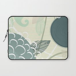Abstract Floral Blue by Friztin Laptop Sleeve