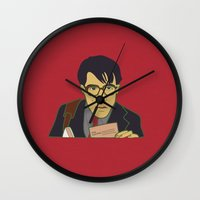 rushmore Wall Clocks featuring MAX FISCHER FROM RUSHMORE (color) by 21871