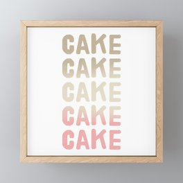 Cake - Neapolitan Flavour Framed Mini Art Print