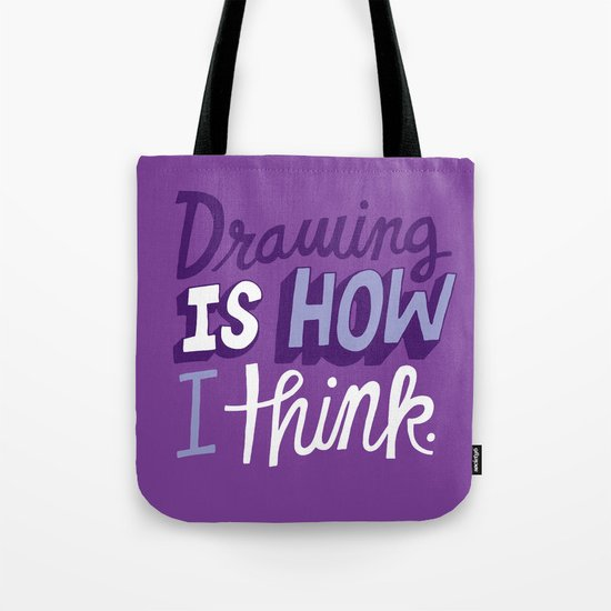 How I Think Tote Bag