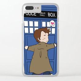 A Doctor and his Tardis Clear iPhone Case