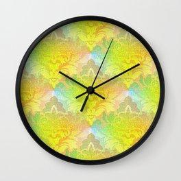 Damask Tapestry Pattern I Wall Clock