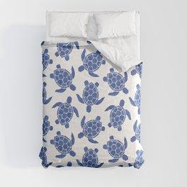 Sea Turtle in Classic Blue Comforters