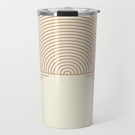 Geometric lines in Shades of Coffee and Latte 4 (Sunrise and Sunset) Travel Mug