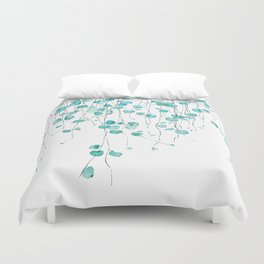 string of hearts watercolor Duvet Cover