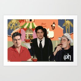 Breakfast with the Sheens Art Print