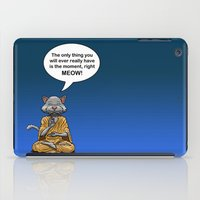 buddah iPad Cases featuring Buddah Cat by The Big Bad Dream Machine