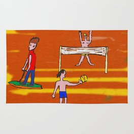 Beach volley Rug