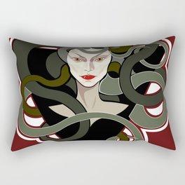 Graphic portrait of Medusa Gorgon Rectangular Pillow