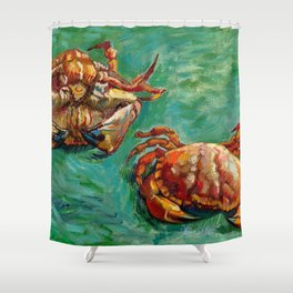 Vincent Van Gogh - Two Crabs Shower Curtain