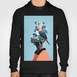 Girl with parrot Hoody