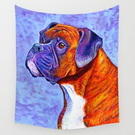 Devoted Guardian - Brindle Boxer Dog Wall Tapestry