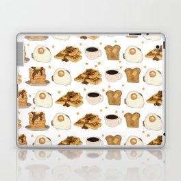 Breakfast Time Pattern on (Egg) White Laptop & iPad Skin