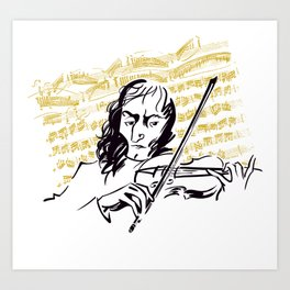 Paganini (3) Art Print