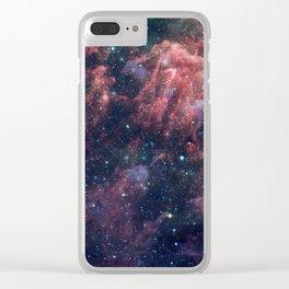 Nebula and Stars Clear iPhone Case