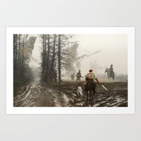 1863 - they feed and defend Art Print