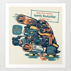 Atomic Blastoise  Art Print