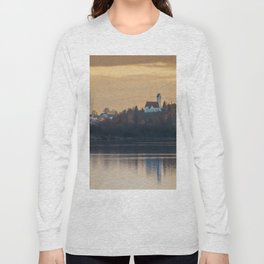 Nature lake and view to St.Martins Church Long Sleeve T-shirt
