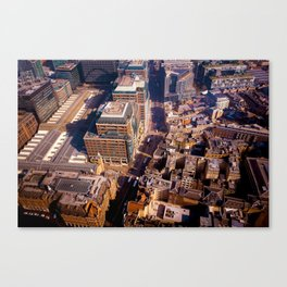 Aerial Cityscape (Color) Canvas Print