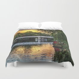 Above The Toll Bridge At Pangbourne Duvet Cover