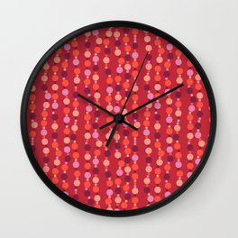 Colorful beads Wall Clock