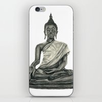 buddah iPhone & iPod Skins featuring Buddah by Hollie B