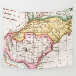 Vintage Map of The Carolinas (1780) Wall Tapestry