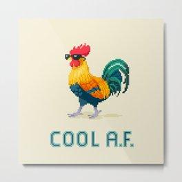 Cool Rooster Metal Print