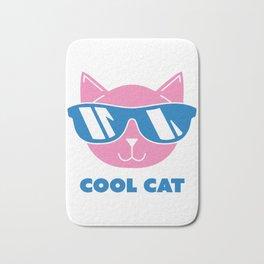 Animals Cool Cat in Sunglasses Shades Bath Mat