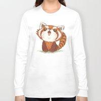 red panda Long Sleeve T-shirts featuring Red panda by Toru Sanogawa